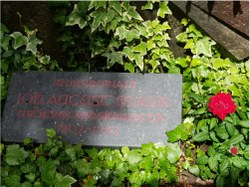 """""""In memoriam""""Johann August Malin auf dem Friedhof in Zürich"""