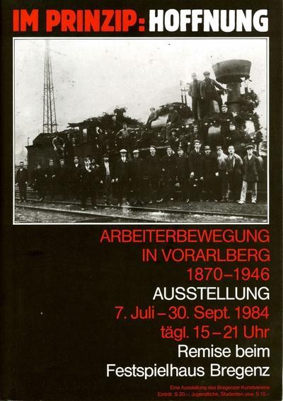 Ausstellung 1984 - Plakat