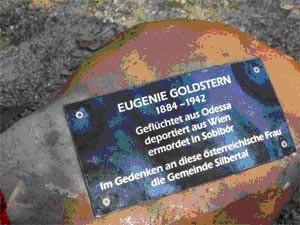 Gedenkstein Eugenie Goldstern