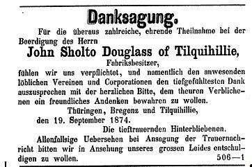 Danksagung Sholto Douglas