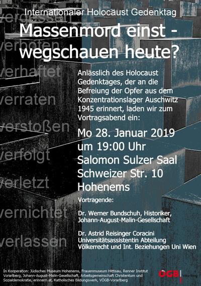 Int. Holocaust-Gedenktag 2019